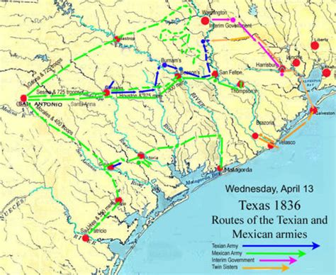 texas and the revolution map san jacinto battle in texas revolution
