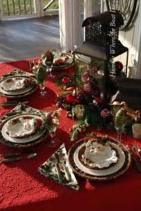 Christmas Table Setting by Christmas Table Setting Christmas Party And Table