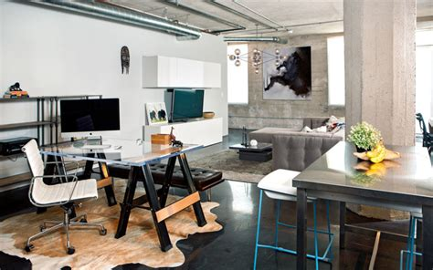 home office design los angeles arts district loft industrial home office los