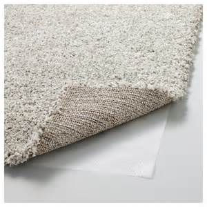 alhede rug high pile white 133x195 cm ikea