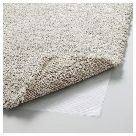 Carpet Ikea alhede rug high pile white 133x195 cm ikea