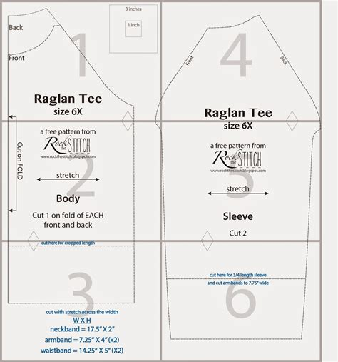 free pattern t shirt rock the stitch free raglan tee pattern