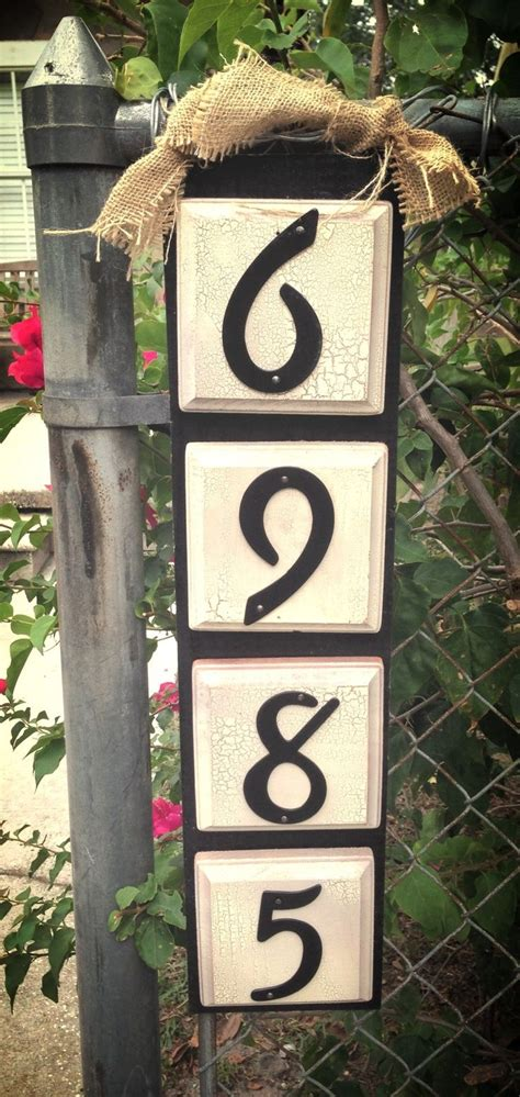 Handmade House Numbers - best 25 house numbers ideas on address signs