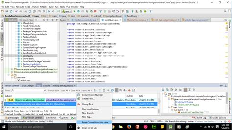reset android studio git how to reset to any of the previous commit in