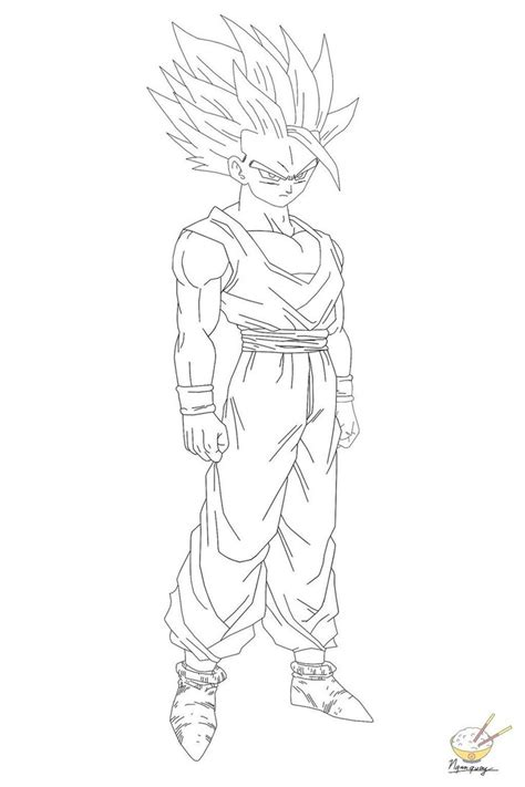 dragon ball z coloring pages gohan dragon ball gohan 60 by songohanart on deviantart