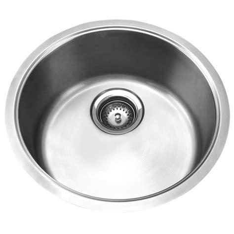 round sink bowl mondella single round stainless steel bowl sink bunnings