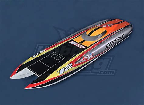 offshore boats rc genesis offshore twin hull 1045mm fiberglass hull only