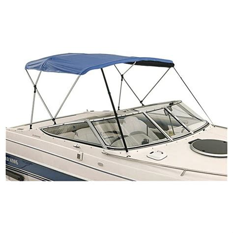 pontoon boat bimini top fabric only attwood bimini top 6 long 3 bow sunbrella 174 acrylic top