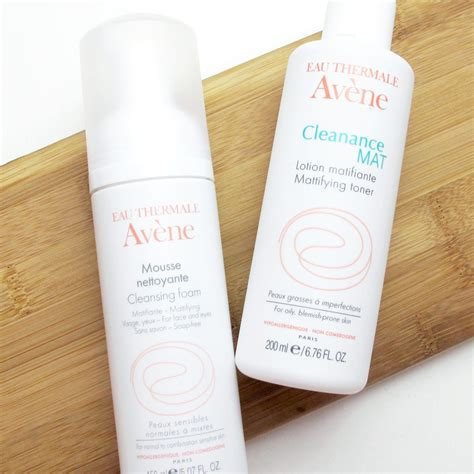 Toner Avene av 232 ne cleansing foam and mattifying toner skincare review
