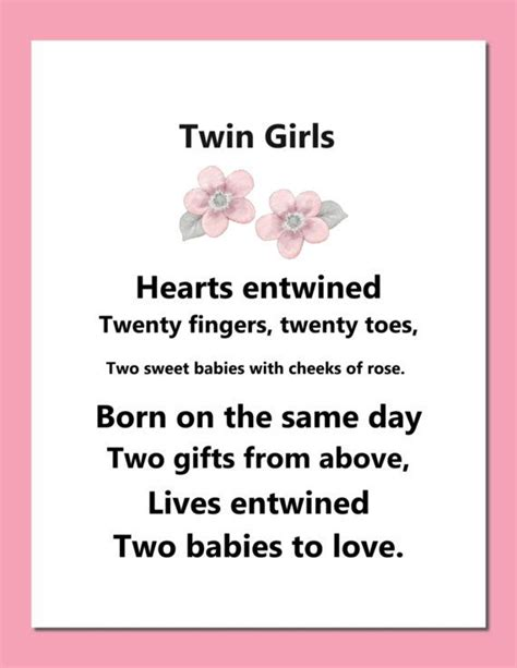 printable twin quotes 17 b 228 sta bilder om poems p 229 pinterest v 228 nskap
