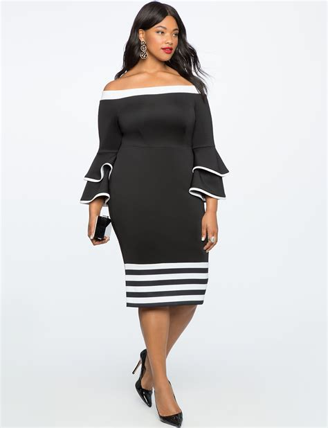 sleeve color block dress colorblock flare sleeve dress s plus size dresses