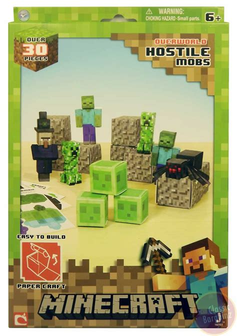 Minecraft Papercraft Hostile Mobs Set - minecraft papercraft hostile mobs new 35 set creeper