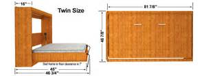 Full Size Murphy Bed Kit Horizontal Easy Diy Murphy Sizes Easy Diy Murphy Bed