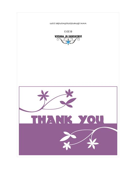 you template thank you card wedding thank you printable cards business