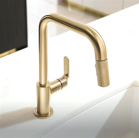 brushed gold kitchen faucet gold kitchen sink and studio