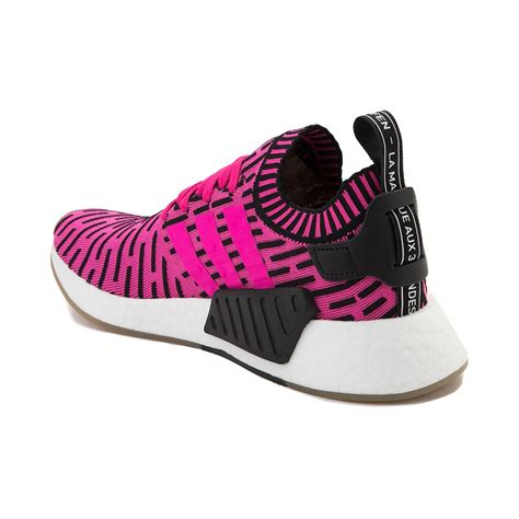 mens adidas nmd r2 primeknit athletic shoe pink 436450