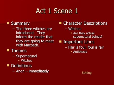 themes in hamlet act 2 scene 2 macbeth act 1 notes