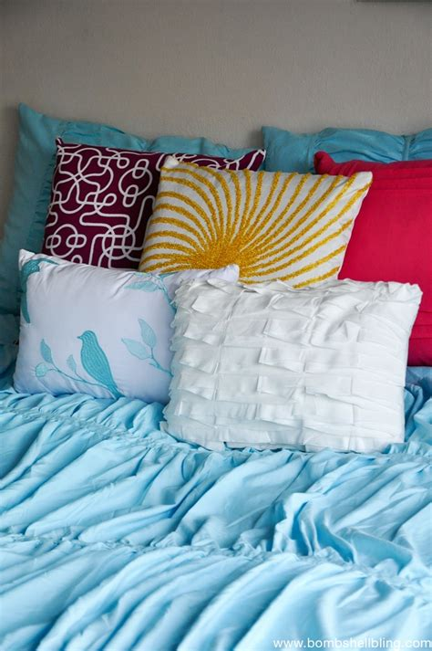 bedroom throw pillows using colorful throw pillows for pops of color
