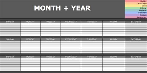 Social Media Jobs For Small Business Content Calendar Template Hubspot