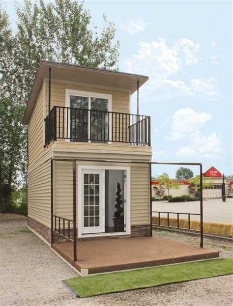 Two Story Mobile Home Floor Plans by The Eagle 1 A 350 Sq Ft 2 Story Steel Framed Micro Home