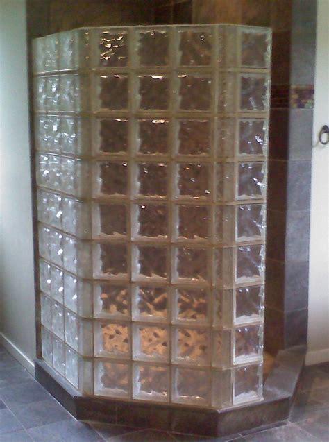 Glass Block Showers rl sanborn masonry