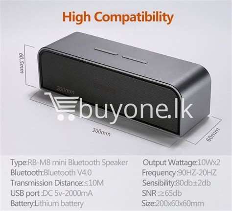 Remax M8 Aluminium Portable Bluetooth Speaker Rb M8 best deal remax rb m8 portable aluminum wireless bluetooth 4 0 speakers with clear bass