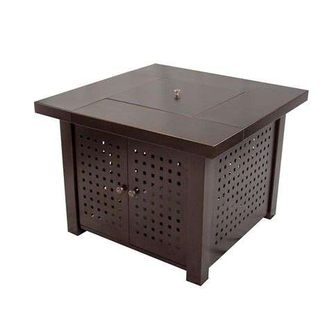 home depot pit table pleasant hearth 38 in square gas pit table
