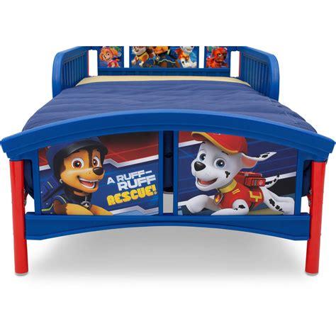 paw patrol bed nick jr paw patrol plastic toddler bed ebay