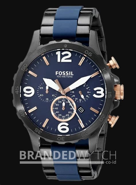 Jam Tangan Fossil Jr 1494 fossil jr1494 nate chronograph grey blue brandedwatch co id
