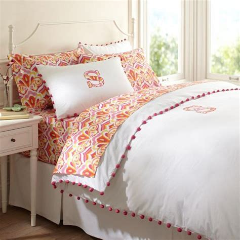 Pom Pom Duvet Duvet Cover With Pom Pom Trim Cute Girls Rooms Pinterest