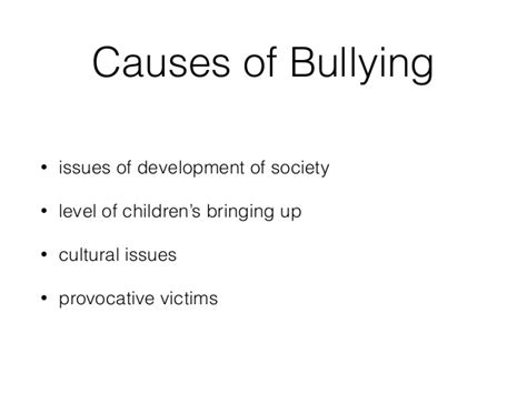 Bullying Causes by Causes Of Bullying Driverlayer Search Engine