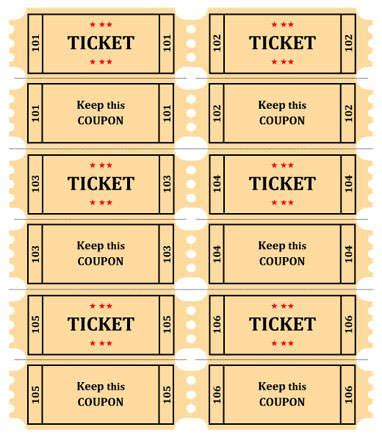 25 best ideas about ticket template free on pinterest