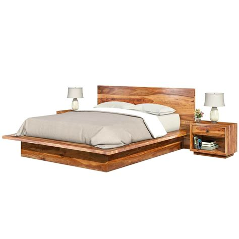 delaware king size solid wood platform bed frame