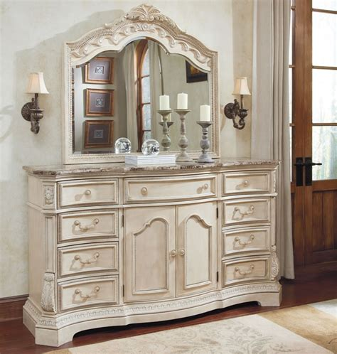 luxury white bedroom plan dresser mirror picture home