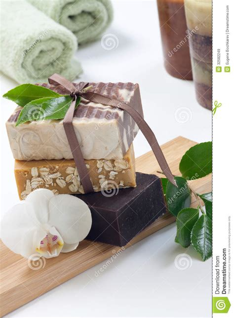 Handmade Organic Soaps - handmade organic soap stock image image of cocoa