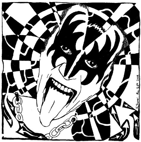 free coloring pages of kiss rock band