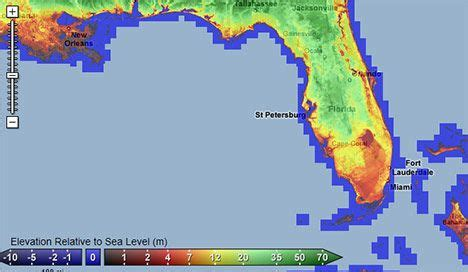 sea level rise florida map see for yourself interactive sea level rise explorer
