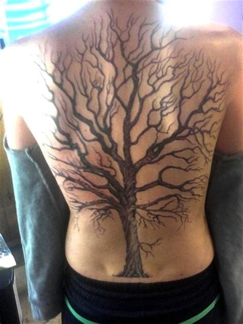 tattoo back tree oak tree on whole back placement tattoos pinterest