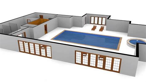 Build Your Own House Plans 3d swimming pool floor plan with motion spline youtube