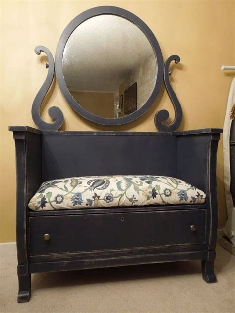 bench made from old dresser bench from old dresser salvage and repurposing ideas