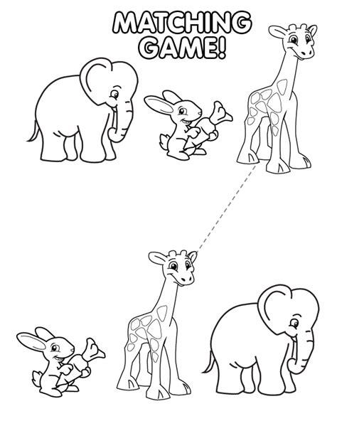 printable animal matching game free printable baby animal match game