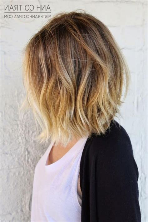 hambre hairstyles medium length blonde ombre hair 23 cute bob haircuts amp