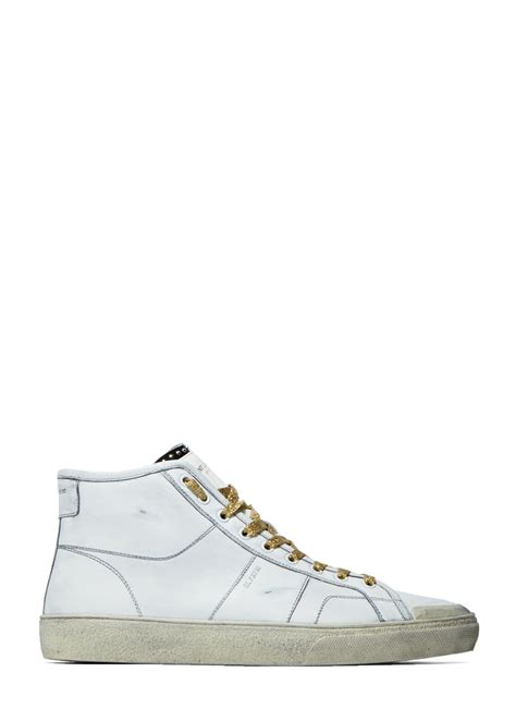 laurent sneakers mens laurent s high top surf sneakers in white in