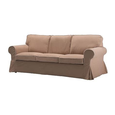 Ikea Ektorp 3 Seat Sofa Slipcover Cover Idemo Beige W Piping Covers For Ikea Ektorp Sofa
