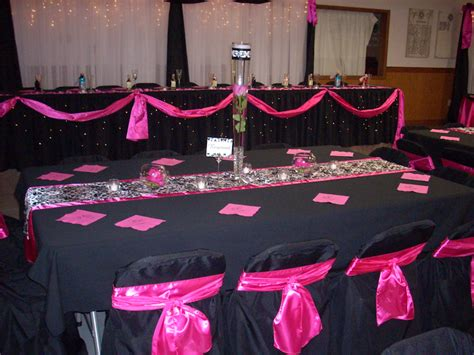 Pink And Black Decorations by Pink And Black Wedding Table Decorations Www Imgkid The Image Kid Has It