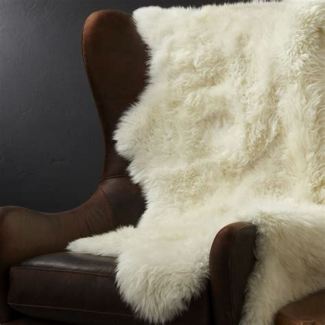sheepskin throw rug sheepskin throw rug crate and barrel