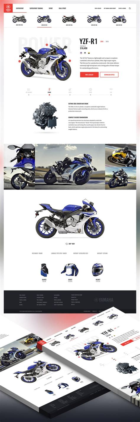 microsite templates free motor bike shop free psd website template