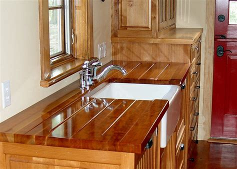 Butcher Block Kitchen Island Cart Cherry Wood Countertop Photo Gallery By Devos Custom