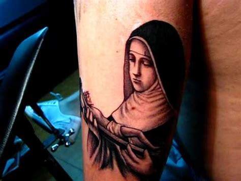 imagenes de la virgen de guadalupe tatuada virgen santa rita nickotattoo youtube