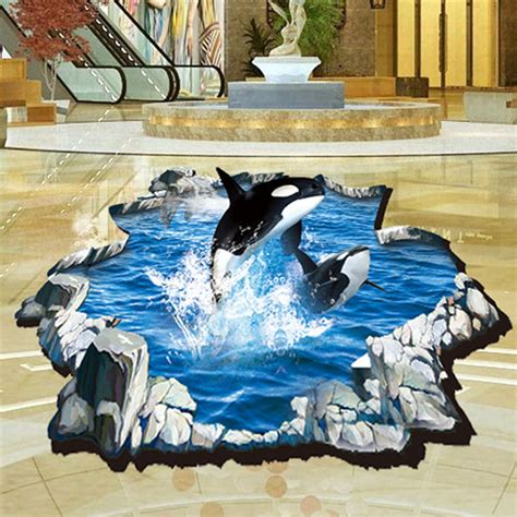 dolphin home decor 2016 dolphin 3d stickers wall decal mural diy hotel home